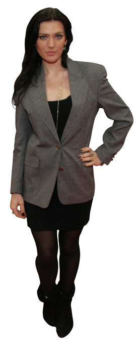 women's gray blazers under fifty bucks