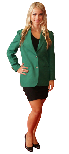 green blazers for women