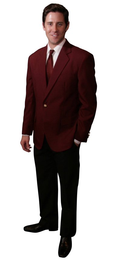 men's maroon blazer burgundy