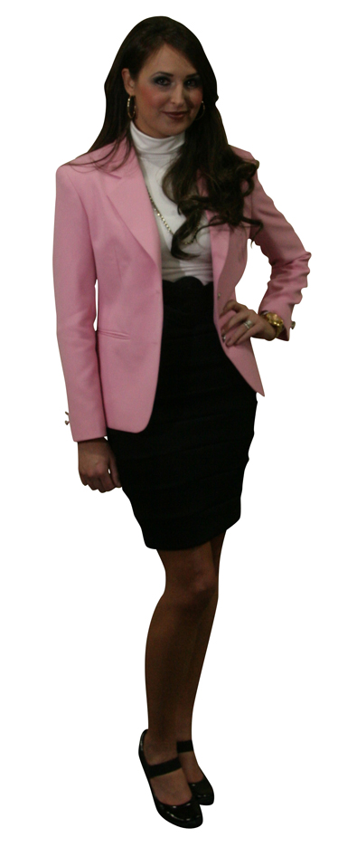 hot pink blazer jacket