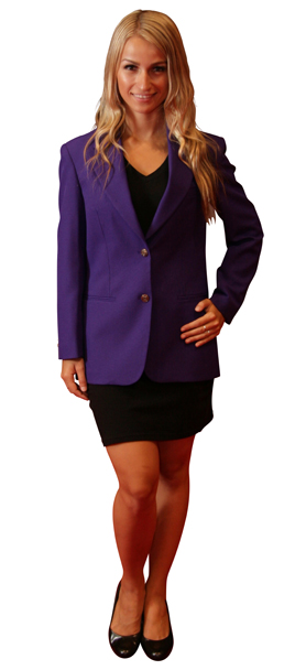 ladies LSU purple blazer jacket
