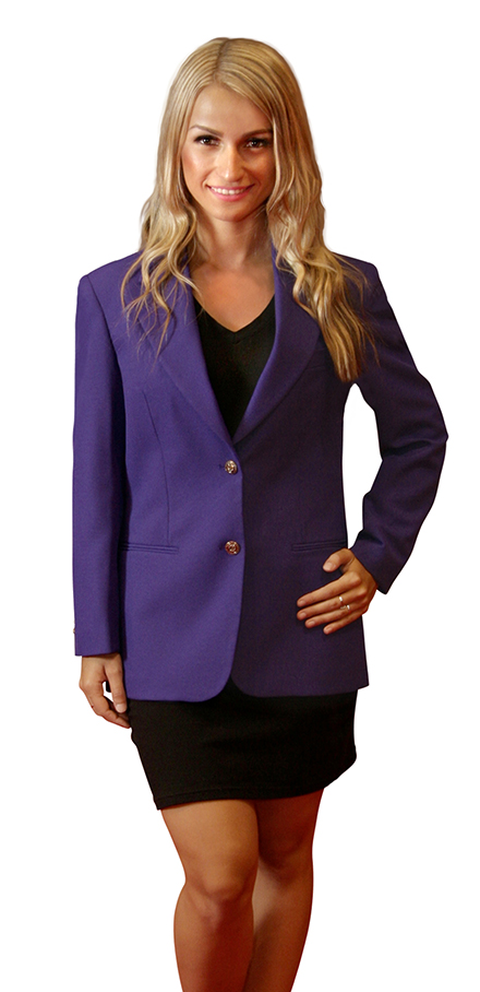 women's purple blazer jacket