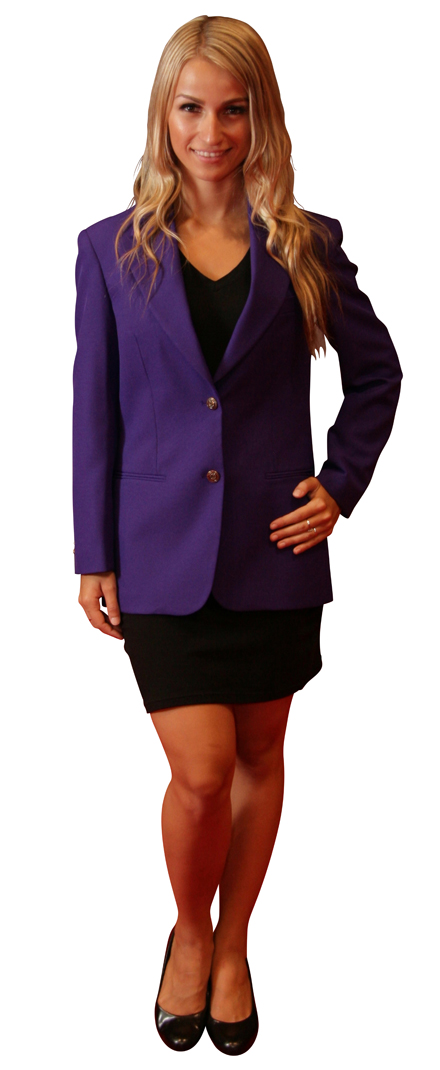 ladies funky purple blazer
