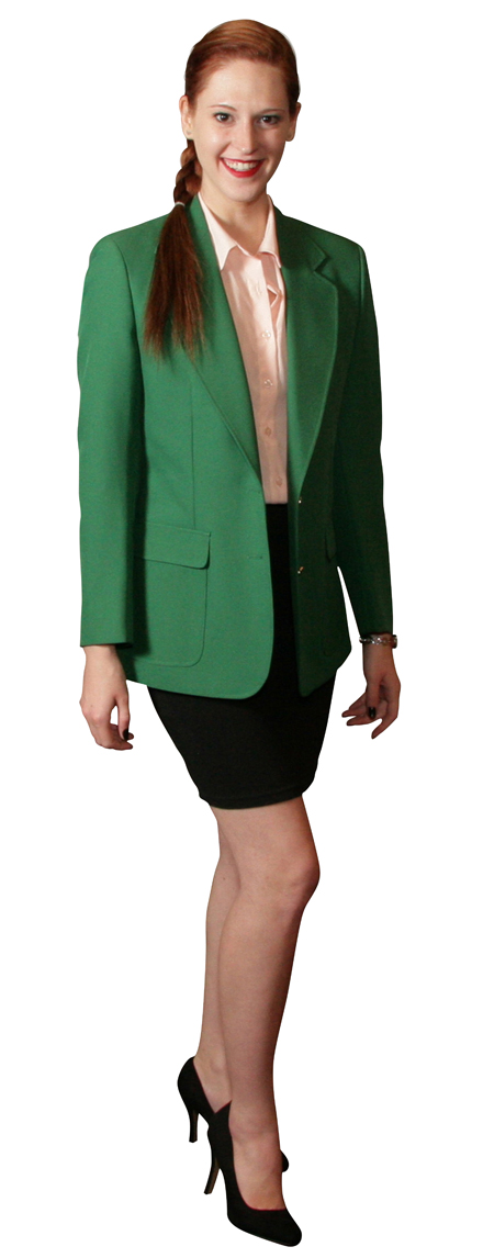 Augusta Green Blazer for Men and Women Made in USA