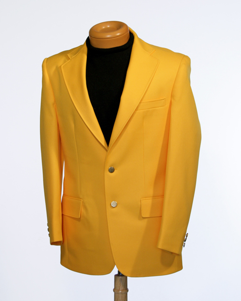 Yellow Blazers: Yellow Blazer is a main part of the male wardrobe. Armed with a good looking blazer, a pair of slacks in a coordinating color, a dress shirt and tie, and you can go just about anywhere. The Yellow blazers or Yellow sport coats for men can be very well available with us in MensUSA. Following are the products available with MensUSA.