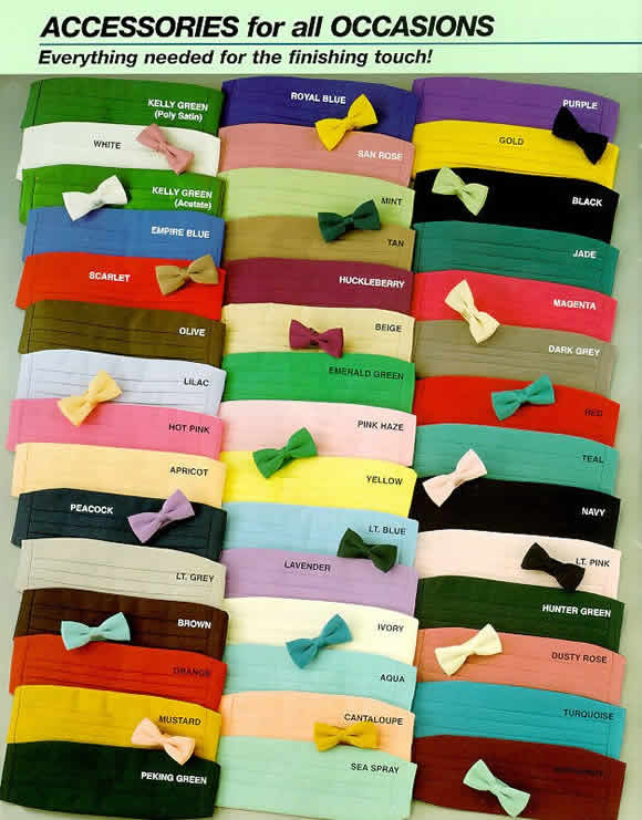 bow ties and cummerbunds