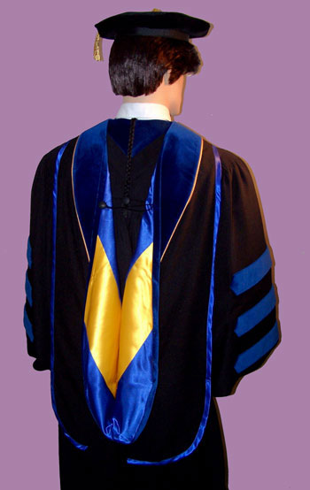 doctoral hood gown and tam