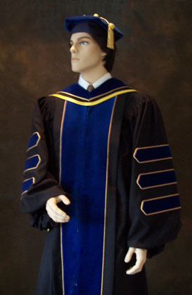 Ph.D. doctoral gowns