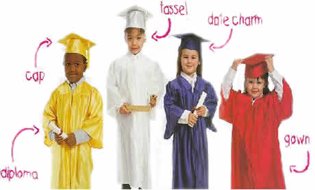 Preschool Kindergarten Graduation Caps And Gowns