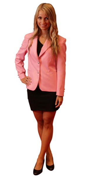 ladies pink blazer