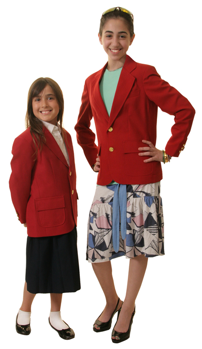 red blazers for boys and girls
