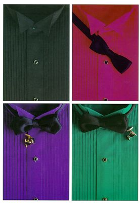 tuxedo shirts color bow ties