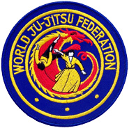 world jujitsu federation embroidered logo patch