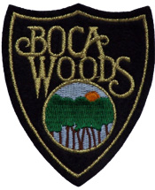 boca woods resort logo shield