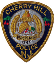cherry hill police embroidered gold bullion shield emblem patch