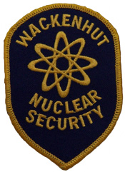 Wackenhut nuclear security uniforms blazer emblem