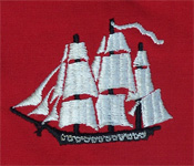 sailboat embroidery