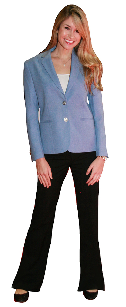 carolina light powder blue blazer
