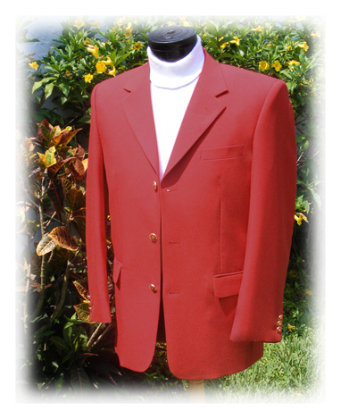 red men's blazer