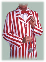 striped boaterjacket costume red bow tie
