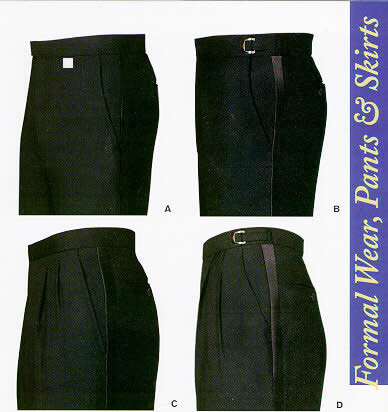 pleated and plain front tux pants - formal pants
