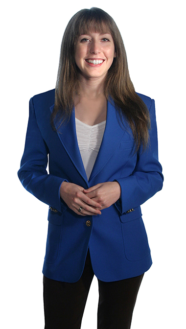 royal blue blazers for women